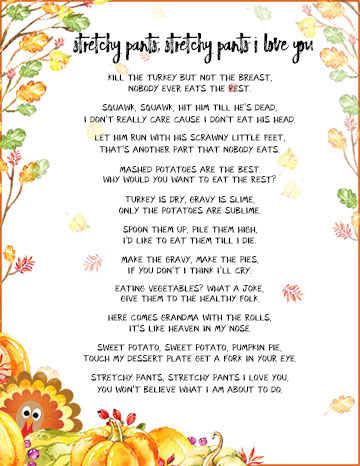 Funny Thanksgiving Poems to Whet Your Appetite - TGIF - This Grandma