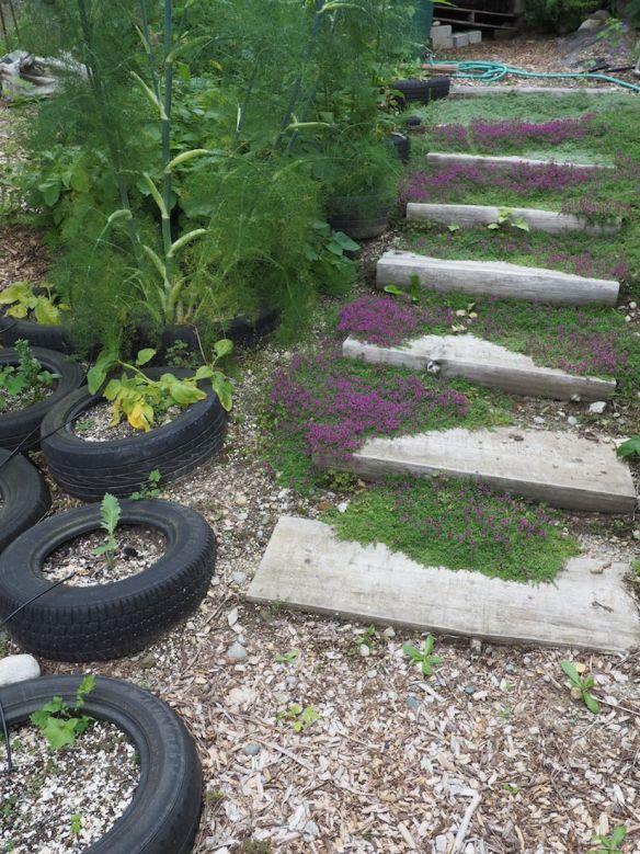 Tireside garden
