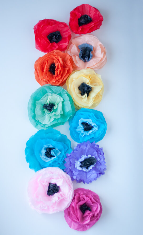 Tissue Flower Magnets 13