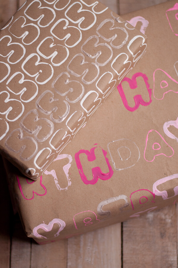Stamped Wrapping Paper 6