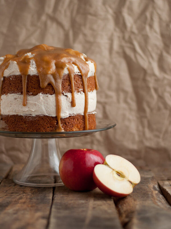 Apple Cake with Cinnamon Whipped Frosting   this heart of mine