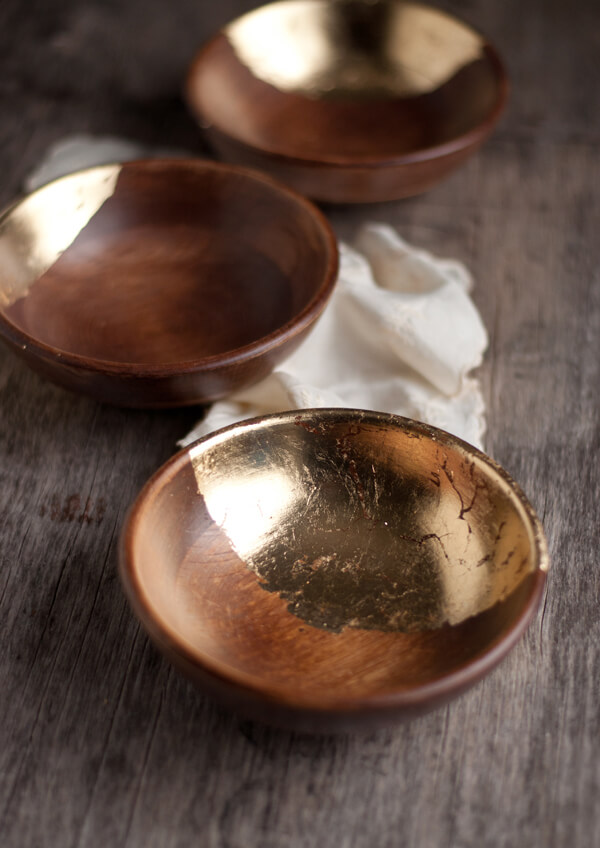 Wooden Bowls with Gold Leaf | this heart of mine