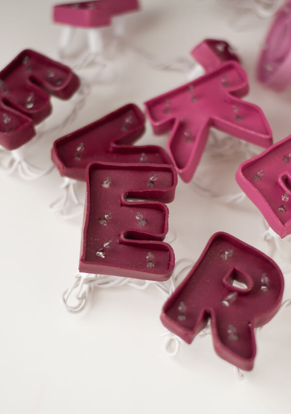 Marquee Sign for Valentine Day's   this heart of mine - Made with polymer clay!!!
