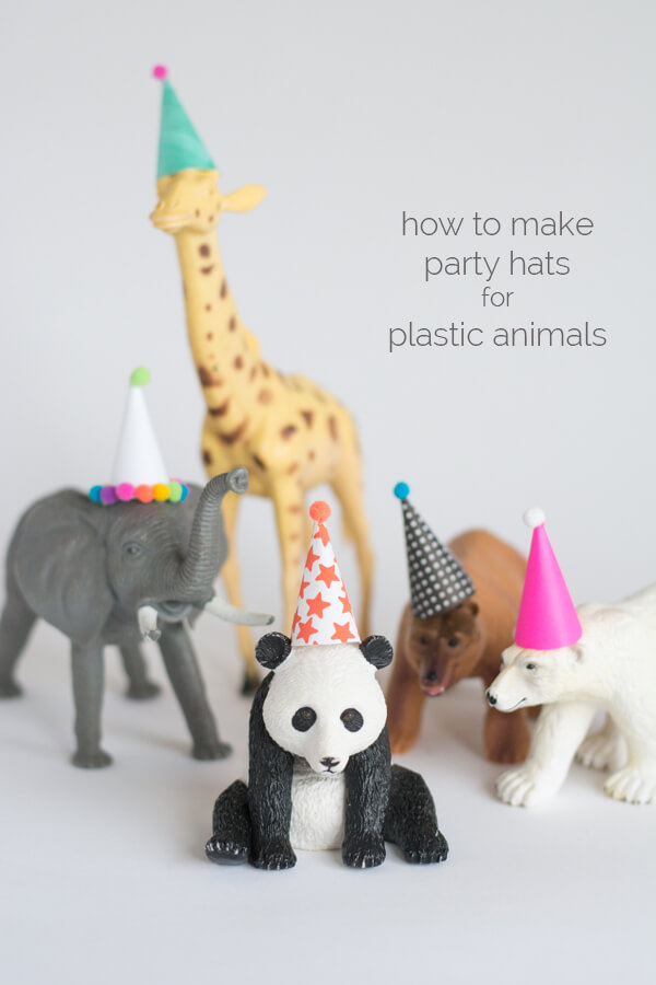 How to Make Party Hats for Plastic Animals \u2022 this heart of mine
