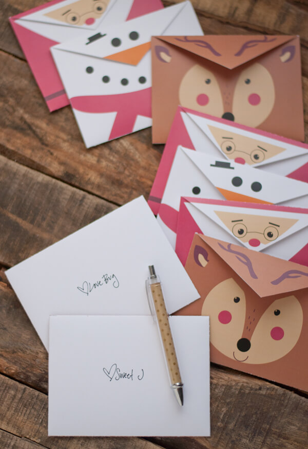 Printable Holiday Envelopes \u2022 this heart of mine