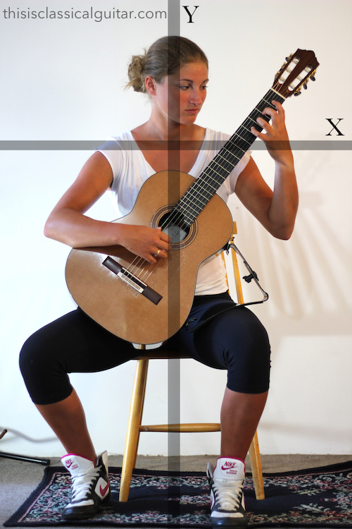 Lesson: Sitting Position - Classical Guitar - Support Diagram