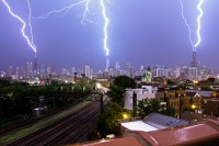 A Triple Lightning Strike on Three of Chicagos Tallest ...