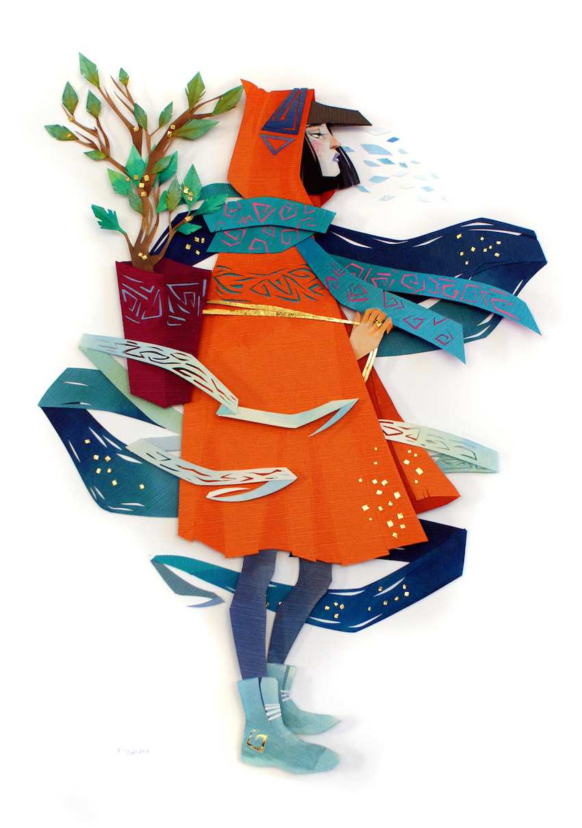 Fall Wooden Wallpaper New Mythical Cut Paper Collages By Artist Morgana Wallace
