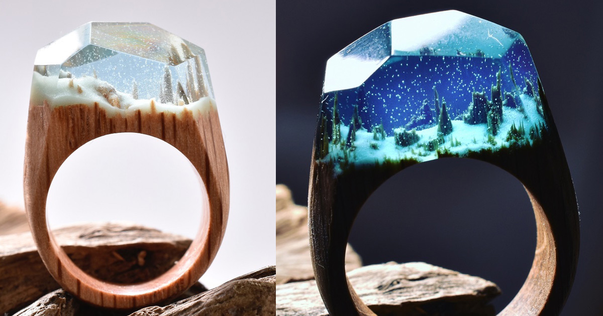 Snowy Mountains And Undersea Worlds Encapsulated Within