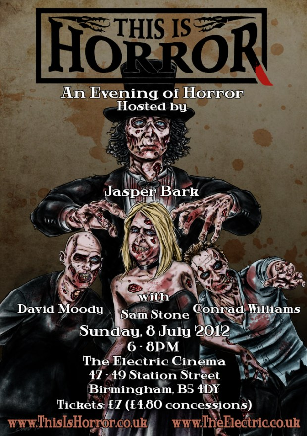 evening of horror - David Moody, Sam Stone, Conrad Williams, Jasper Bark