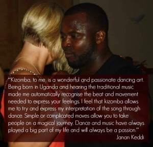 Kizomba allows me to try and express my musical interpretation of a song through dance