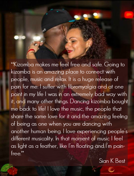 Dancing kizomba has helped alleviate my fibromalgyia symptoms