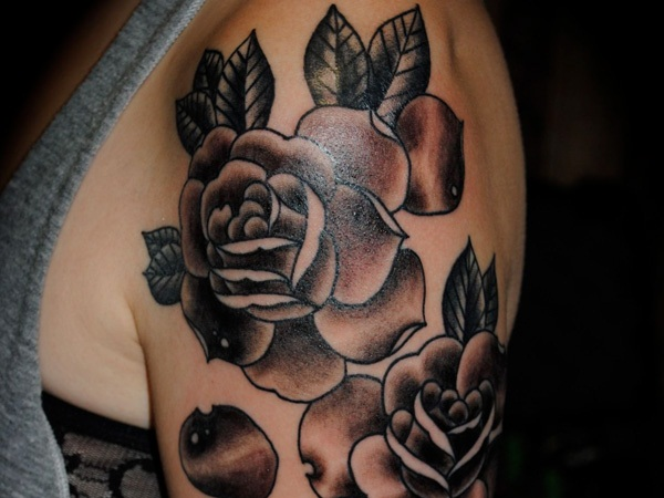 Harsh 3d Name Wallpaper 30 Awesome Rose Tattoo Designs For Women