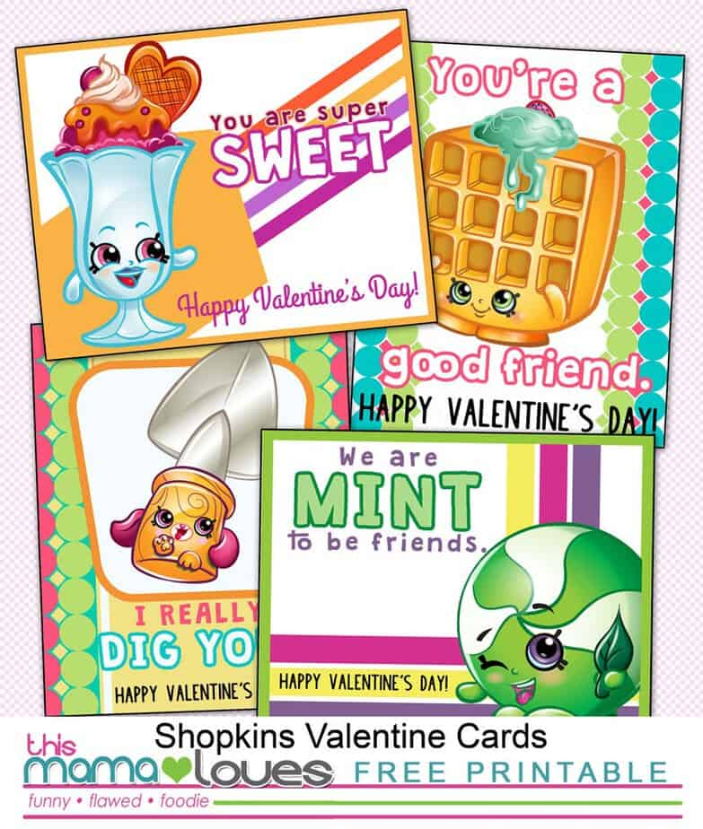 Shopkins Valentines Day Cards {Printable} This Mama Loves