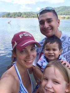 thismomhere and family enjoying north carolinas beautiful lakes