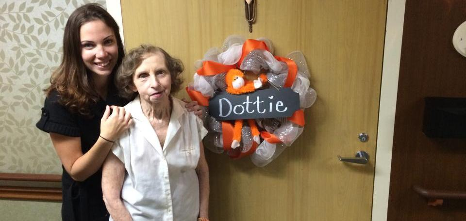 thismomhere crafted a wreath for her grandma
