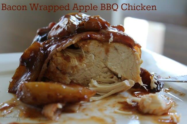 ... you guys enjoy this Bacon Wrapped Apple BBQ Chicken Crock Pot Recipe