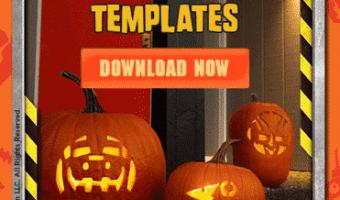 Free Dinotrux Pumpkin Carving Templates + Recipe #Dinotrux