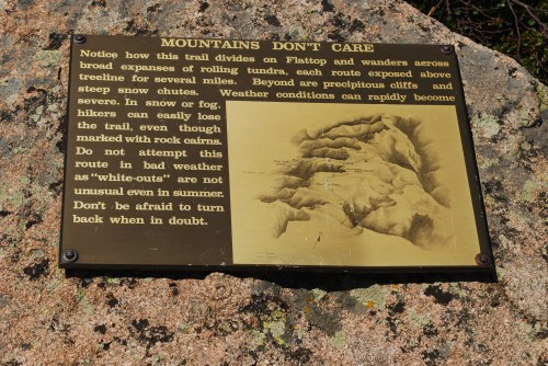Plaque on Mountain