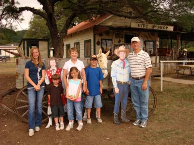 Family at Stables