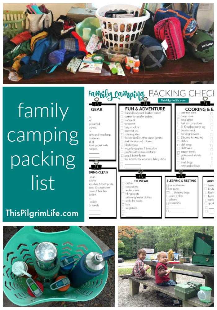 Family Camping Packing List - This Pilgrim Life