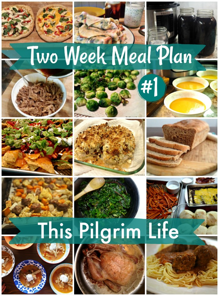 Two Week Meal Plan #1 - This Pilgrim Life - how to plan weekly meals for two