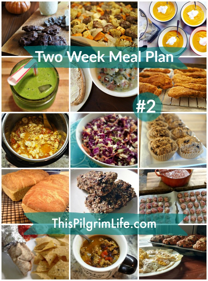 Two Week Meal Plan #2 - This Pilgrim Life - how to plan weekly meals for two