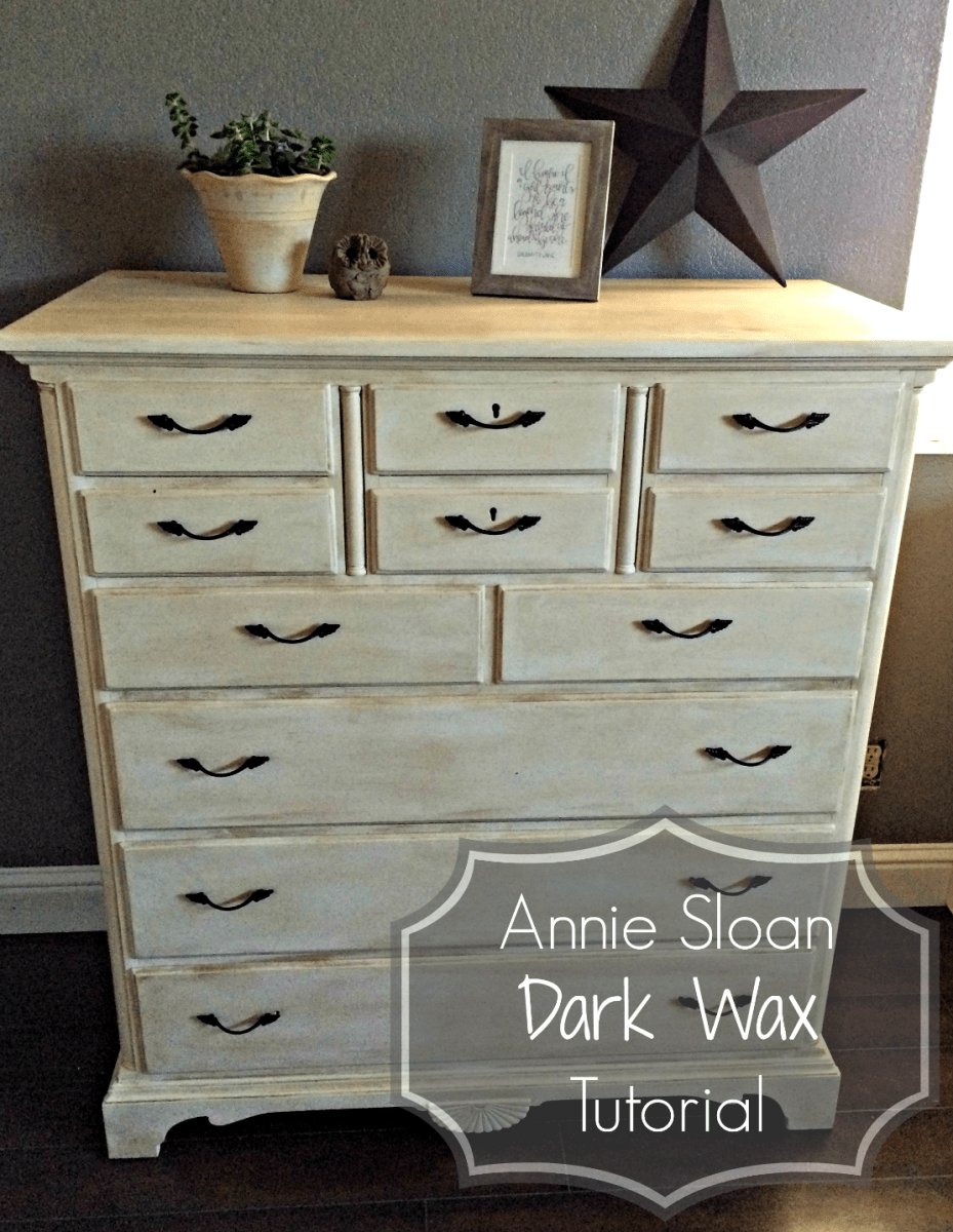 Annie Sloan Dark Wax Tutorial This Rustic Soul