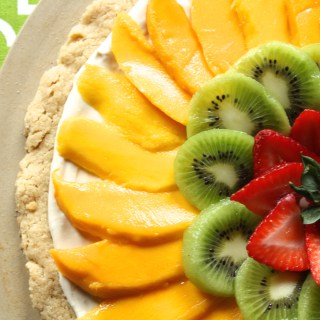 Spring Fruit Cookie Pizza