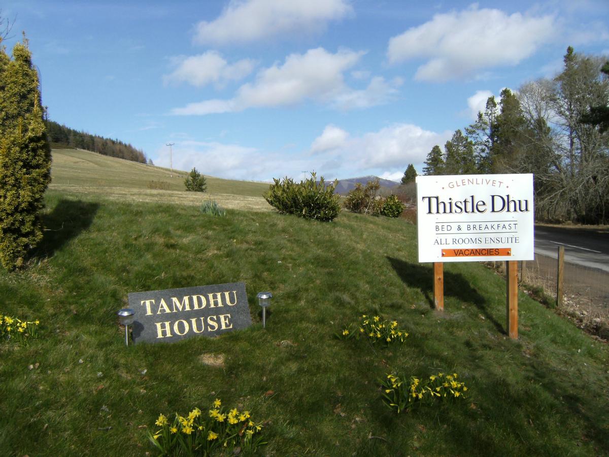 Thistle Dhu B&B Business Sign
