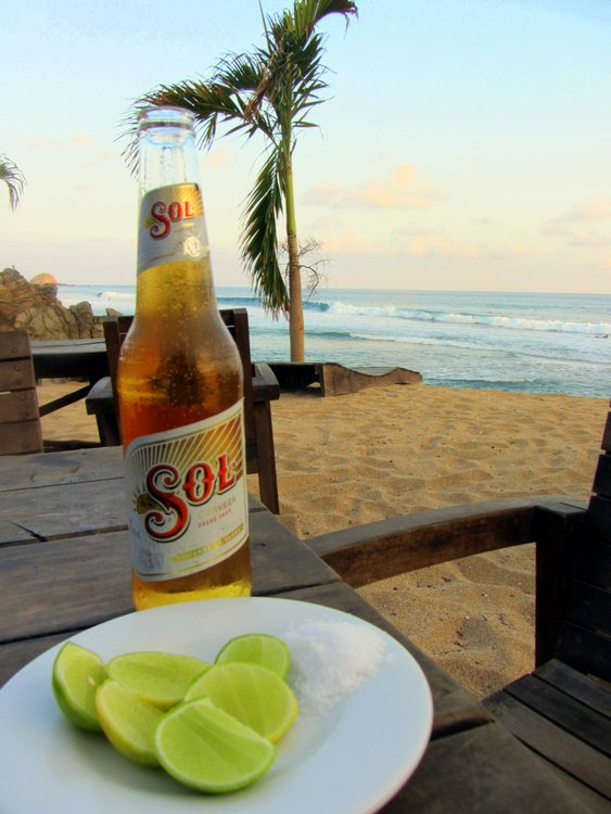 best beaches in the world, A beer with a view of the ocean