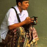Ubud Man with camera