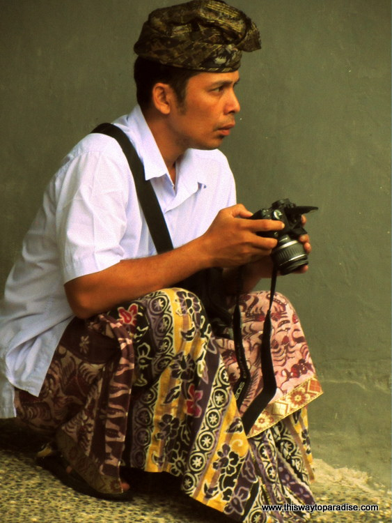 Man with camera, Bali