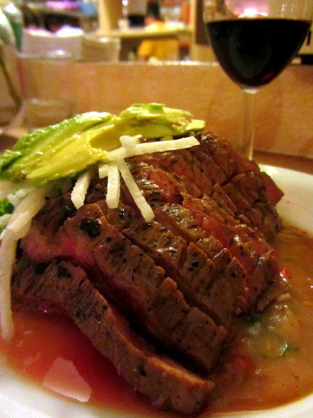 Arrachera in Bacon Gravy at El Buen Cafe, restaurants in San Miguel de Allende