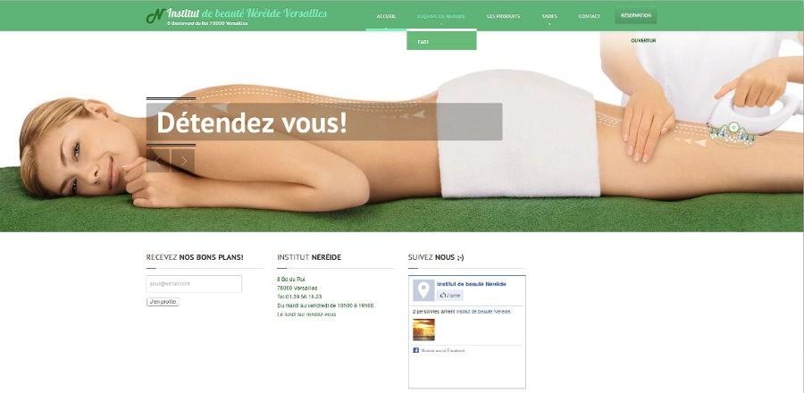 Site internet créé par Thiverval Informatique - Néreide Beauté