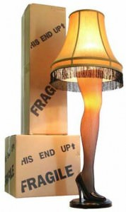 "A Christmas Story Full Size 45"" Leg Lamp."