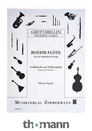 Zimmermann Verlag Fingering Chart Flute \u2013 Thomann UK