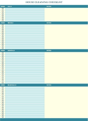 Cleaning Schedule Template For Office Kitchen Schedule Template