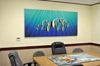 Office Wall Painting. Moorish Idols Tropical Fish