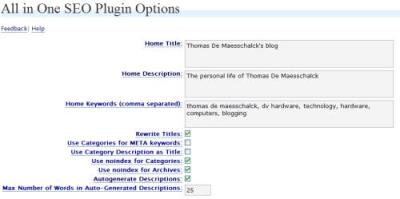 Search engine optimizations for your Wordpress blog. Plugin to add custom description and ...