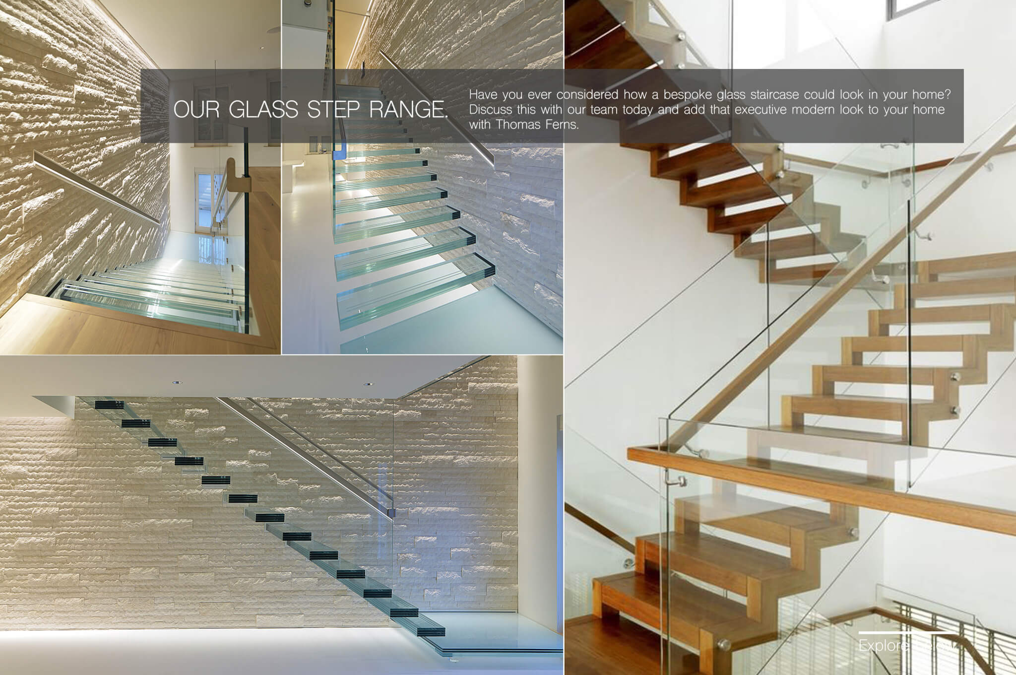 Bespoke Glass Staircase Glass Stair Steps Manchester