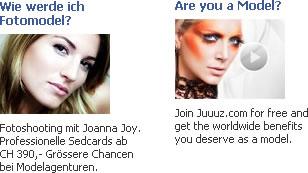 "Facebookwerbung ""Model"""