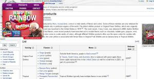 Skittles.com - Wikipedia-Page