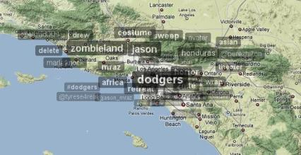 Trendsmap Los Angeles 11.10.2009