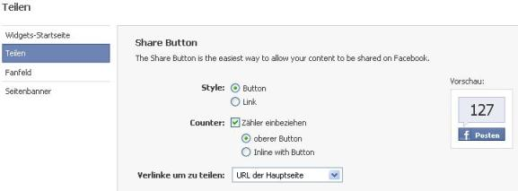 facebook share widget