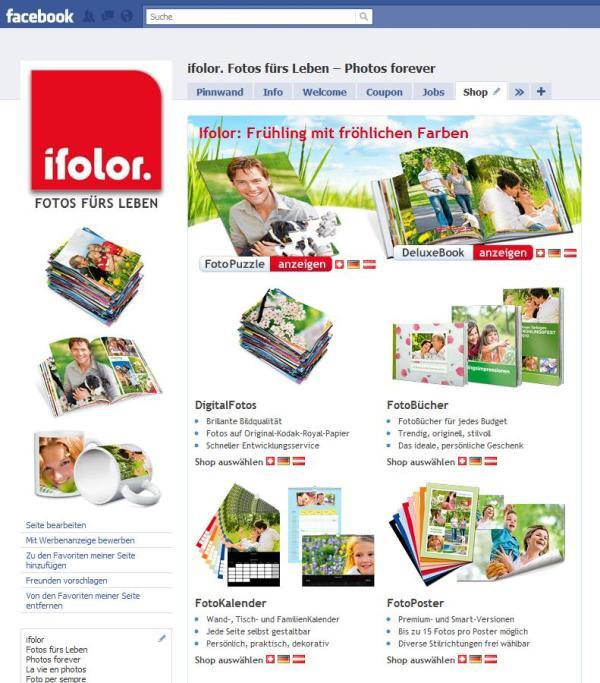 Beispiel Vorschau ifolor-Fanpage