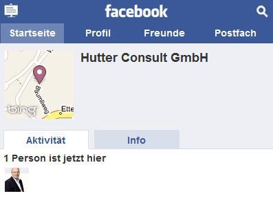 Aktivitäten auf Facebook Places auf touch.facebook.com