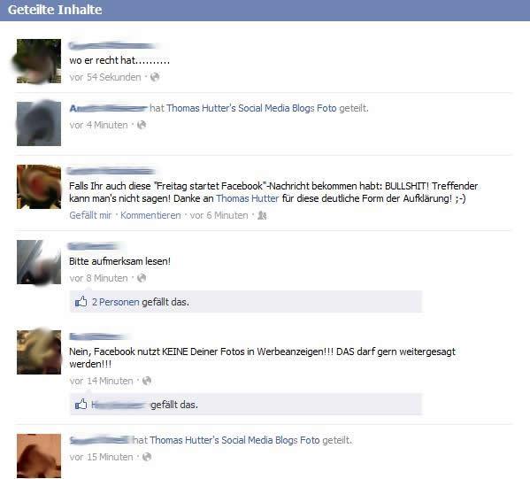 """Informationen zu """"geteilte Inhalte"""" auf Facebookseiten"""