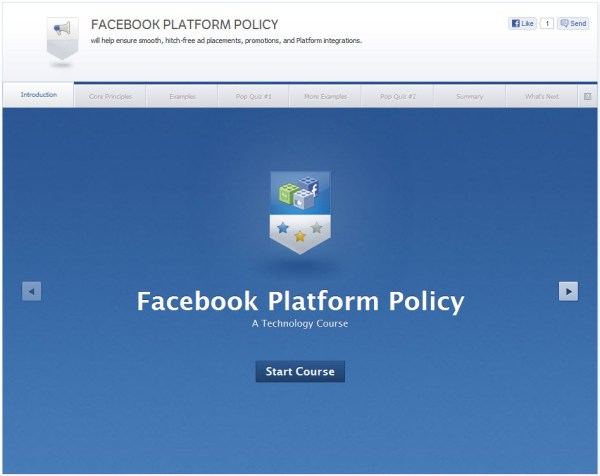 Facebook Platform Policy - Introduction