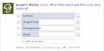 Facebook Question Ad